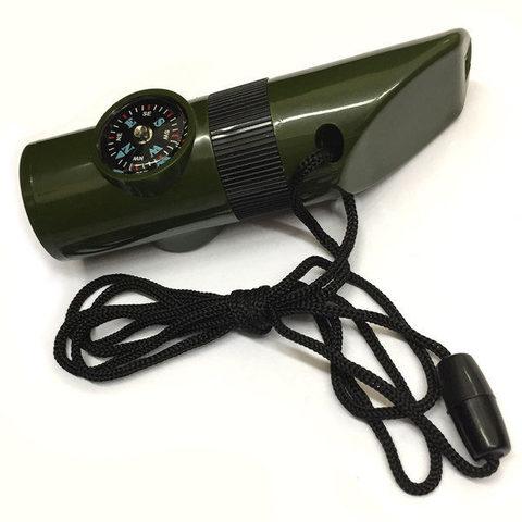 Свисток фонарик с термометром и компасом