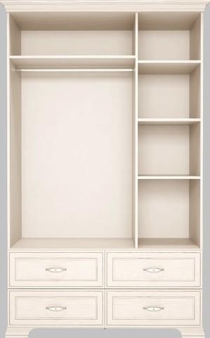 Шкаф для одежды трехдверный с зеркалом Венеция 1 с ящиками Ижмебель бодега светлая