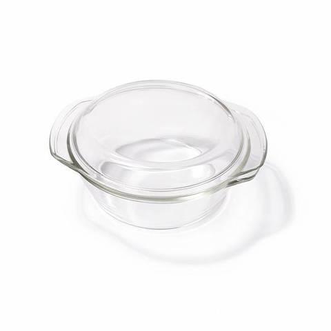 Кастрюля AURELI 20x18x9см / 1л со стеклянной крышкой Круглая (стекло)
