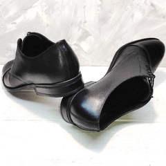 Кожаные туфли мужские черные Ikoc 2249-1 Black Leather.