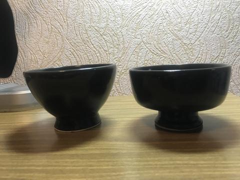 Чаша для бритья керамическая черная