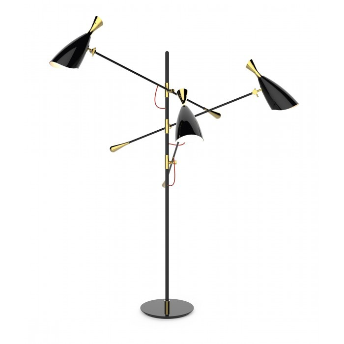 Напольный светильник копия Duke by Delightfull (черный)