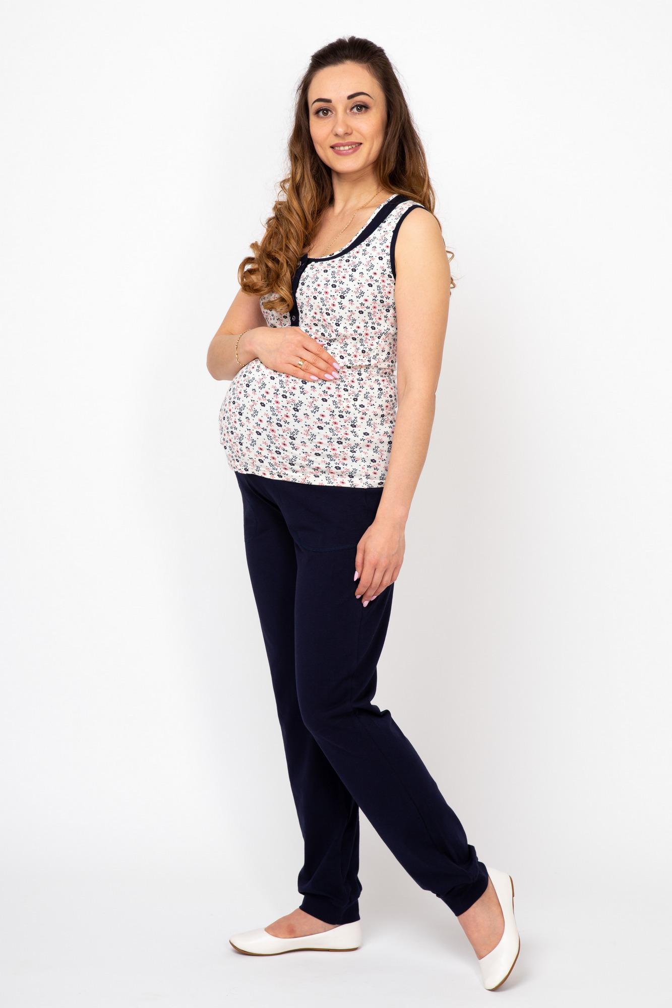 Пижама для беременных и кормящих 08050 серый