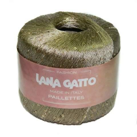 Пряжа Lana Gatto Paillettes 8600 золото