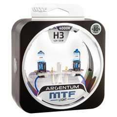 Галогеновые лампы MTF Light ARGENTUM +80% H3