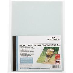 Папка-уголок Durable A4 прозрачная 180 мкм (10 штук в упаковке)