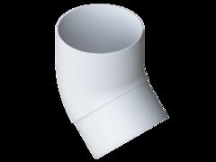Колено трубы  белое 45° пластик
