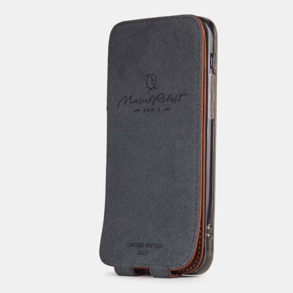 Special order: Чехол для iPhone 12 Pro Max из натуральной кожи теленка, коричневого цвета