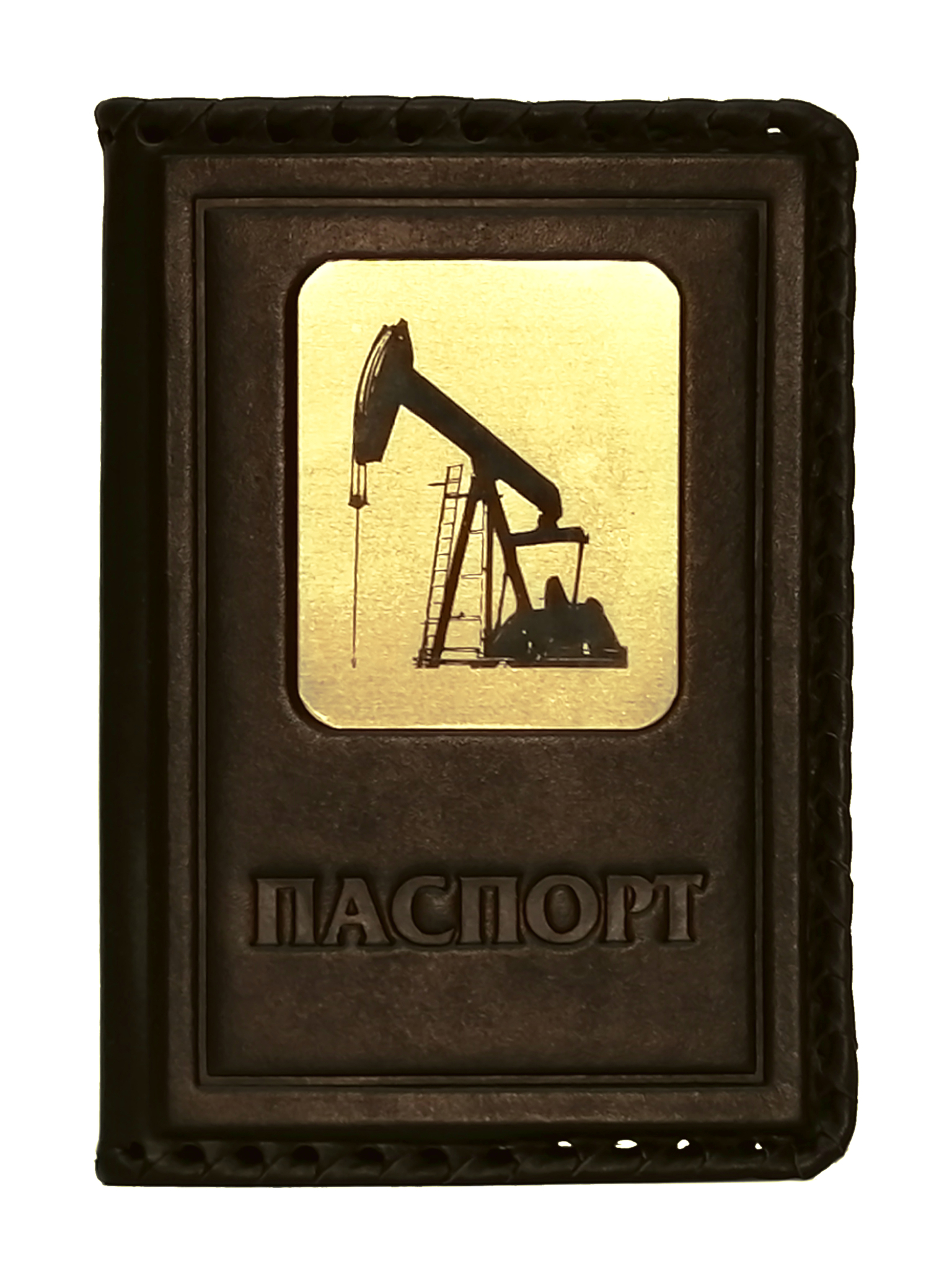 Обложка на паспорт | Нефть | Коричневый