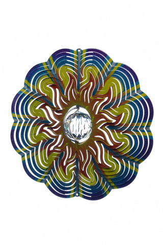 Ветряной спиннер Солнце с кристаллом 25см (Iron Stop)