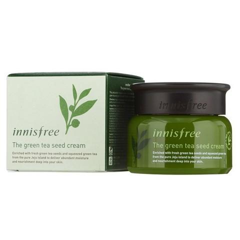 Innisfree The Green Tea Seed Cream антиоксидантный крем с экстрактом семян зеленого чая