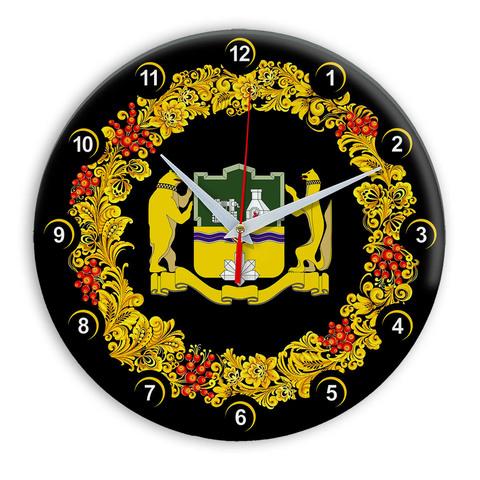 Часы в стиле Хохлома сувенирные Екатеринбург 03