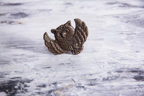 Ручка мебельная металлическая - сова, арт. 000801