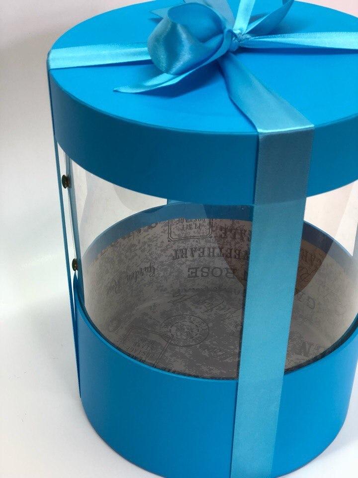 Коробка аквариум 18 см Цвет :Ярко голубой   . Розница 350 рублей .