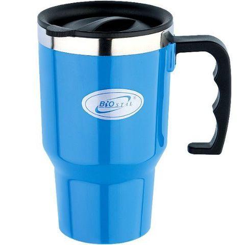 Кружка Biostal Авто (0,45 литра), синяя