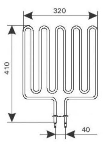 ТЭН Harvia - тэн харвия 3000W ZSK-720 (ZSK720) 230V - нагревательный элемент для печи сауны,см. HTS003HR