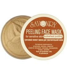 Пилинг-маска для лица Гречневый пудинг (для чувствительной кожи), 150g TM Savonry