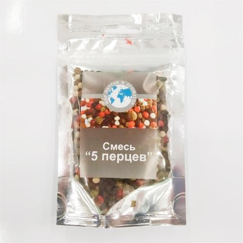 Приправа МИР ВКУСОВ И АРОМАТОВ Смесь 5 перцев горошек 30 г РОССИЯ