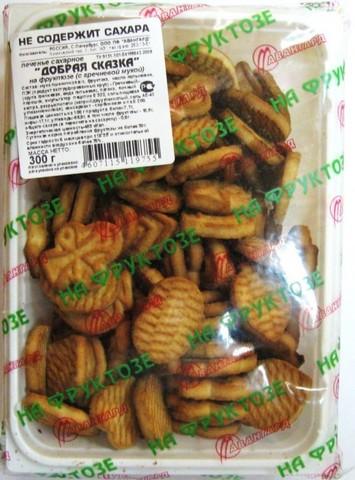 Печенье с гречн. мукой на фрукт Добрая Сказка, 300гр