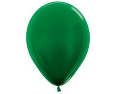 Шарики цвета зеленого леса (металлик)