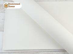 Экокожа гладкая матовая белая