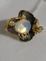 Каттлея (кольцо из серебра)