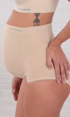 EUROMAMA. Корсет для беременных бесшовный, 4 косточки бежевый вид 13