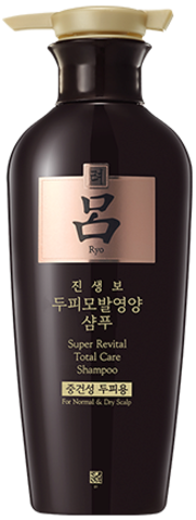 Восстанавливающий шампунь с женьшенем Ryo Super Revital Total Care Shampoo, 400 мл