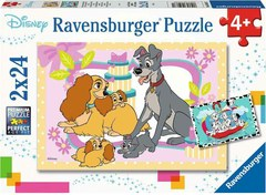 Puzzle Disney's favorite puppies 2x24 pcs