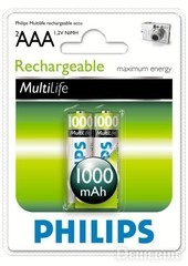 Аккумуляторы Philips MultiLife Ni-MH R03 (1000mAh) (АКЦИЯ!!!)