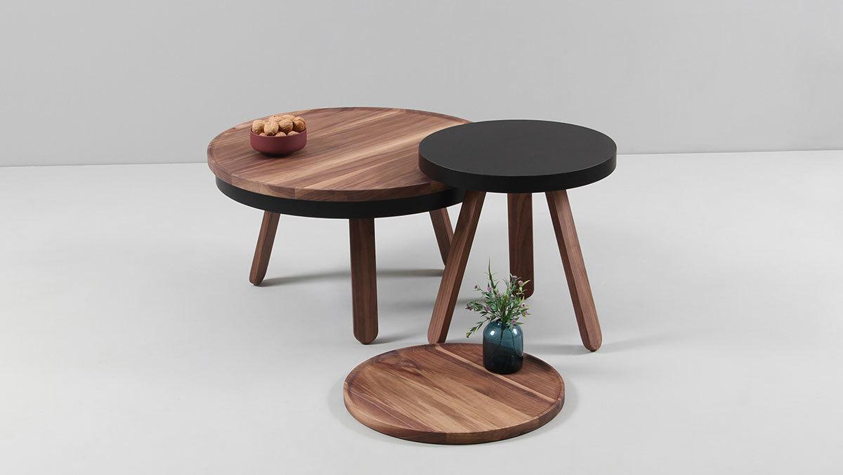 Кофейный столик Batea M орех - вид 3