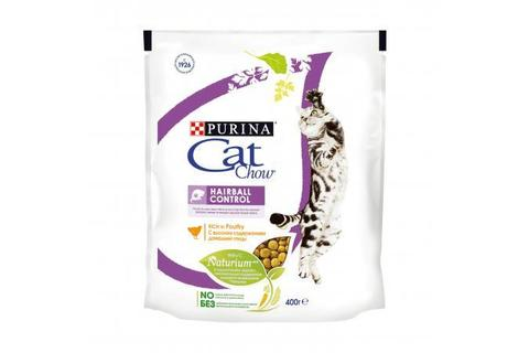 Сухой корм для кошек Purina Cat Chow с контролем образования комков шерсти в ЖКТ, домашняя птица