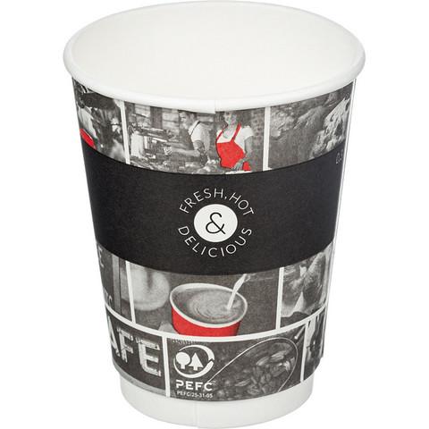 Стакан одноразовый Cafe Noir бумажный разноцветный 300 мл 25 штук в упаковке