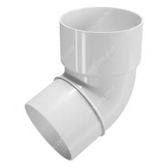 Колено трубы белое 67° пластик