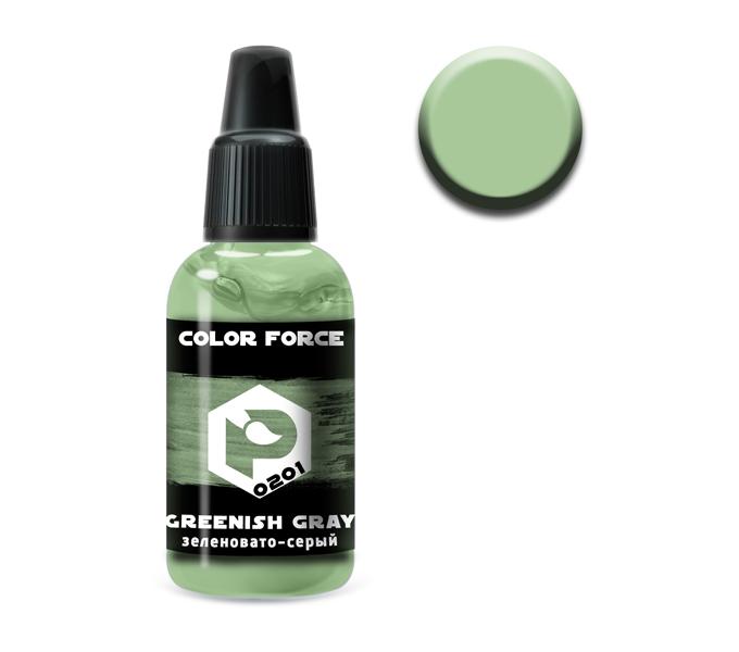 Краски P-0201 Краска Pacific88 Зеленовато-Серый (Greenish Grey) укрывистый, 18мл 0201.jpg