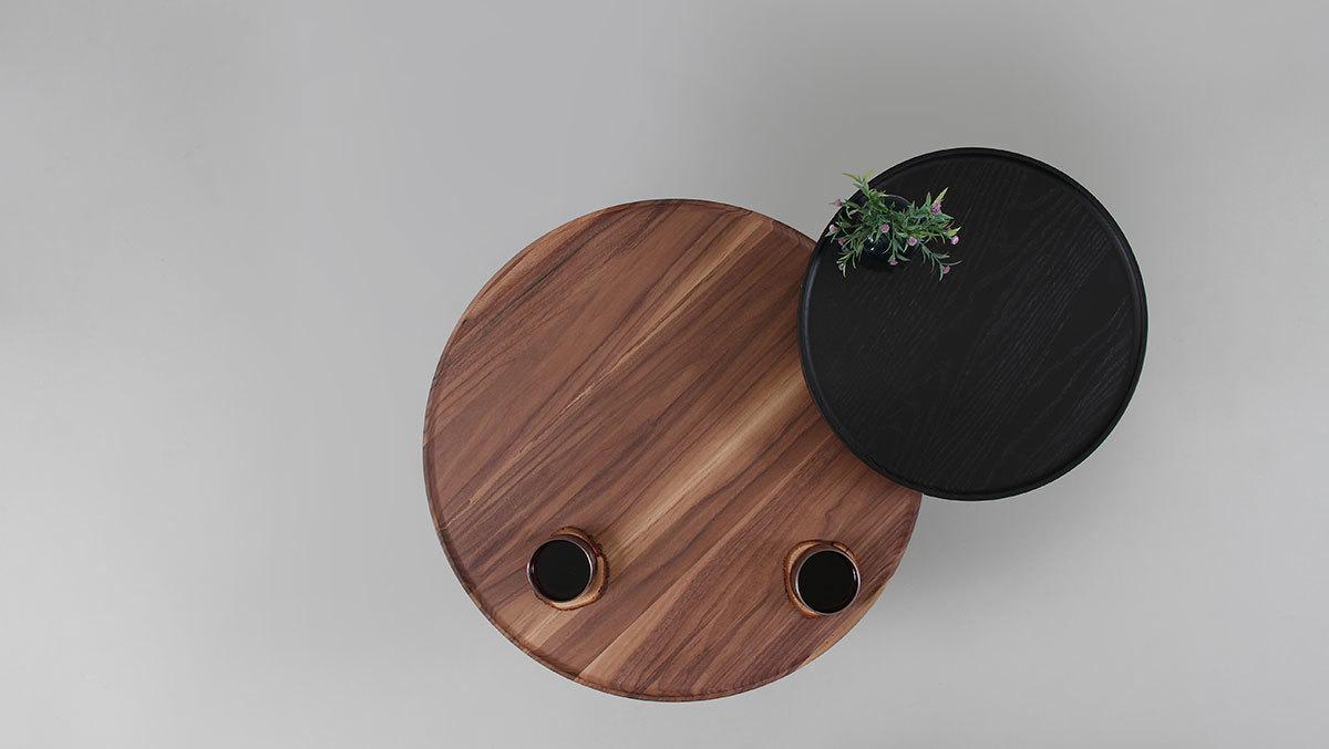 Кофейный столик Batea M орех - вид 4