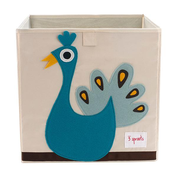 Коробка для хранения 3 Sprouts Павлин (синий)