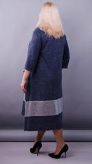 Лола. Святкова сукня великих розмірів. Синій.
