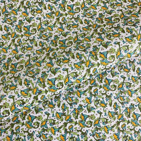 Бумага декоративная упаковочная Флорентийская зелёная с голубым