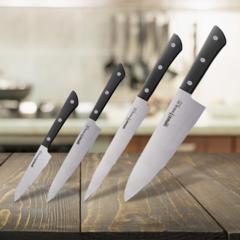 Набор из 4 кухонных стальных ножей Samura HARAKIRI