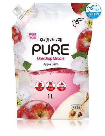 PIGEON Средства для мытья посуды Pure One Drop Miracle Apple Balm 1 л.