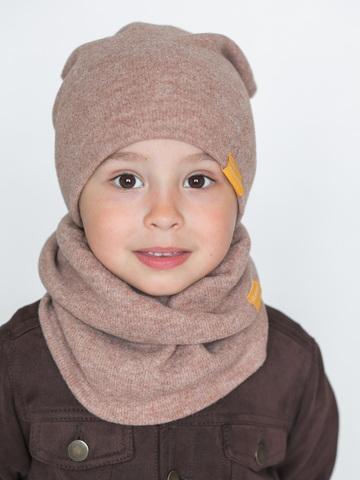 детская шапка из кашемира песочная