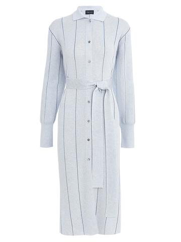 Женское платье голубого цвета из вискозы - фото 1