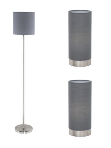 Комплект освещения (торшер и 2 настольные лампы) Eglo PASTERI 95166-95119/2
