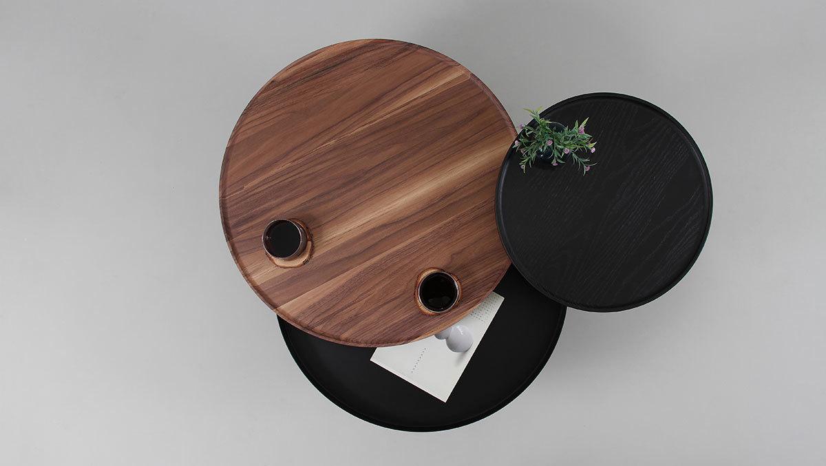 Кофейный столик Batea M орех - вид 5