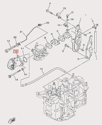 Фильтр воздушный для лодочного мотора F9,9 Sea-PRO (6-10)