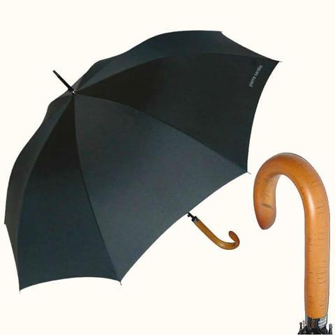 Классический зонт-трость с ручкой из дерева - клен