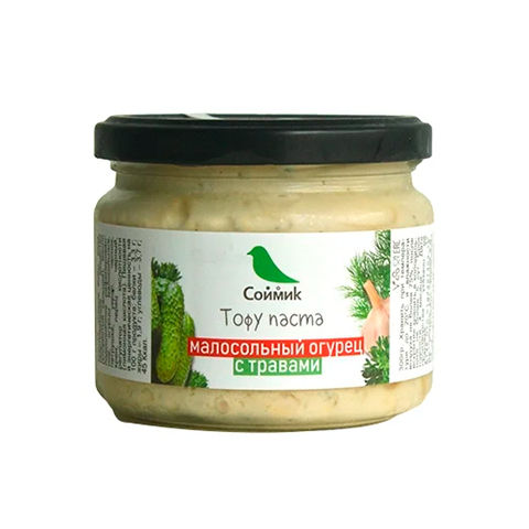 Тофу-паста Soymik малосольный огурец с травами, 260 г
