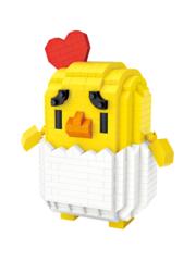 Конструктор LOZ Зодиак Цыпленок Либра 460 деталей NO. 9569 Chicken Libra Zodiac Sign Series