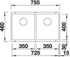 Мойка Blanco Subline 350/350-U схема